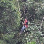 My guide Nataly on the canopy zipline