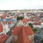 ペーター教会の塔の上から見たミュンヘン市街
