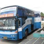 the bus from Bangkok
