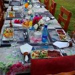Abendessen im Garten
