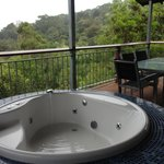 Hot tub in the villa
