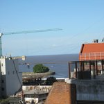 View from our room - looking east toward Rio de la Plata