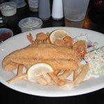 Fish & Shrimp That is half a Dinner