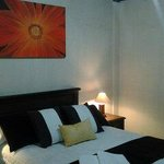 Doble room with cosy decoration