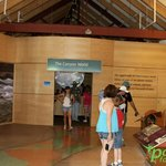 Inside the Grand Canyon Visitors Center.
