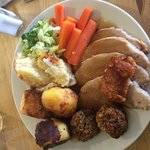 Friday roast - highly recommended with meat sourced locally from Hazeldene Farm - delicious!