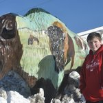 Rocket City Motel, their buffalo and our son:)