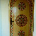 One of the room's door