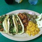 2 Pastor/1 Chicken Tacos