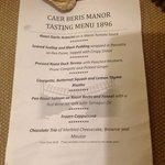 7 course taster menu eg