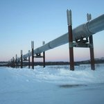 Pipeline at the Yukon river