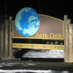 Arctic circle monument sign...