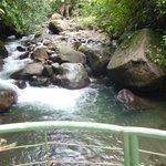 Río que pasa junto al hotel