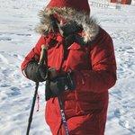 Hiking at minus 30 degrees C