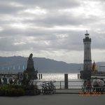 L'accesso a Lindau dal mare (vista dal porto)