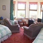 East Muntloch Croft B & B  front ensuite bedroom/sittingroom