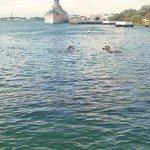 The USS Arizona lies feet below Pearl Harbor's waters
