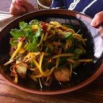 Prawn, Sticky Pork & Mango Salad :-)