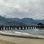 Hanalei Pier and backdrop