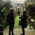 Under the colosseum with Vito!