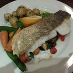 cod on roasted Mediterranean veg