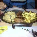 Filetto di puledro con polenta e patate
