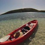 Kayak to a nice sandbank