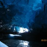 Looking back toward the entrance to the Crystal Ice Cave.