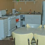 Kitchen with 1950's dinette with one of our largest kitchens