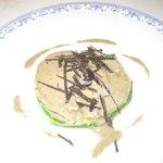 courgette, purée de topinambour, oeuf et crème de Truffes