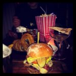 Burgers and cocktails...