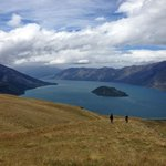 Lake Wanaka, on tour with Ridgeline Adventures