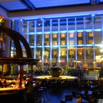 bar/ lobby at night