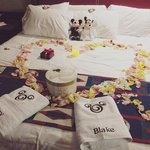 Bed + in room celebration from Disney Floral