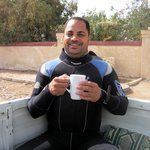Ahmed the instructor with the inevitable cup of tea