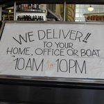Delivery available, even to your boat