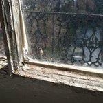 inside window sill