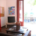 Living room with TV, internet, library,...
