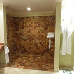 Huge tiled shower