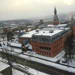 Another view of Sage Hall from Room 912 (never got old!)