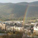 Rainbow in Tzfat