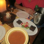 Dessert extravaganza, brownie sizzler and kickass fondue