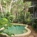 cool refreshing pool to relax by