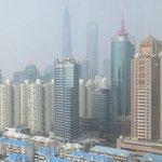 上海環球金融中心も見えます