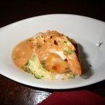 blue ling with lobster sauce