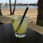 happy hour margarita at Beachside