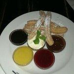 churros and sauce selection