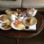 Fantastic in-room breakfast
