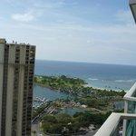 部屋からの海の眺め