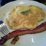 Spinach Omelette with Bacon